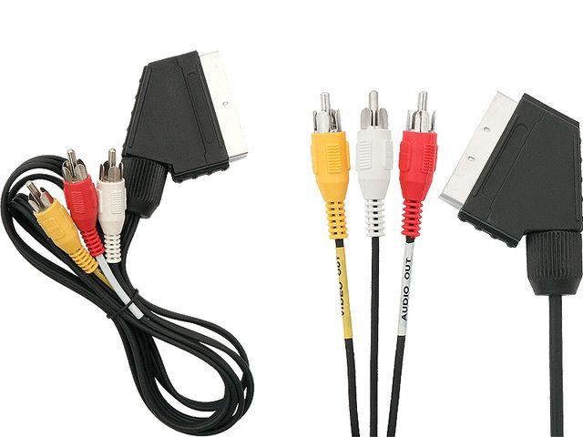 ЕВРО SCART кабель - 3x RCA (тюльпан) NEW 1,2 F.VAT Доставка товаров из Польши Allegro на русском Aredi.ru